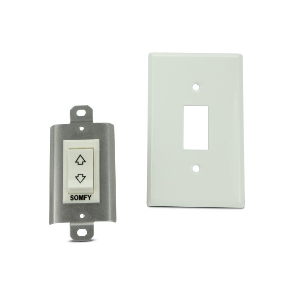 White Rocker Switch-Mom 2 Pole-w/Spring Return Pos-Std Plate