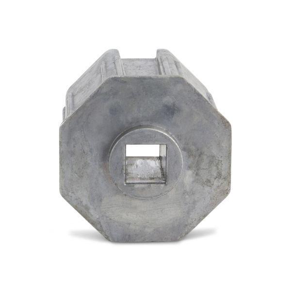 Gear Insert Tube Connector Alu 60mm Oct w/13mm Sq Hole
