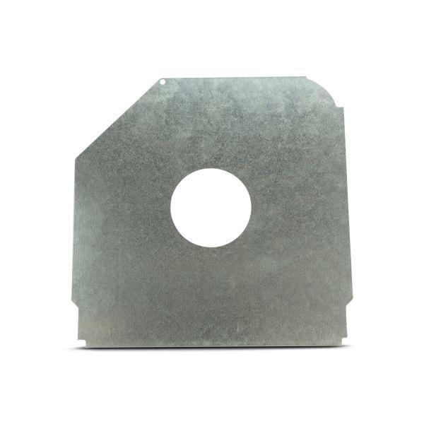 "Safetyplate f/S-Cap RV45-10""/250mm 72mm Hole/Gal Shrt Leg"