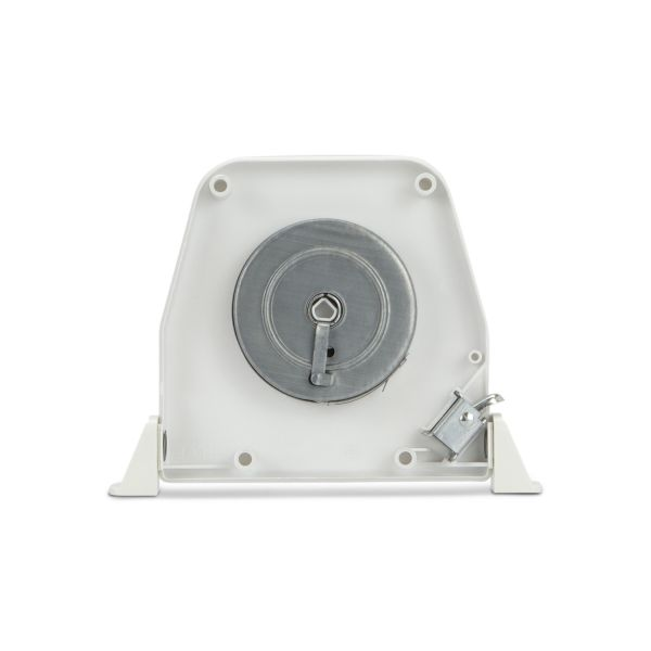 Mini Strap Coiler (22mm) Hinged, White Swivelling, no strap